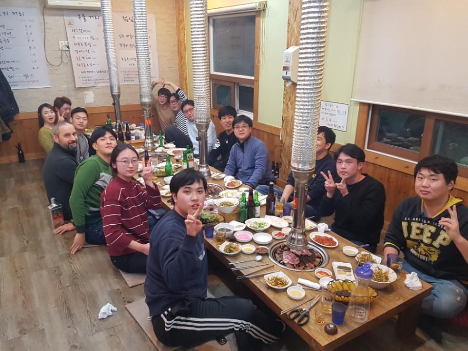 현초희 석사, 장윤정 석사, Dr. Vladimir Lesnyak 송별회 ~~