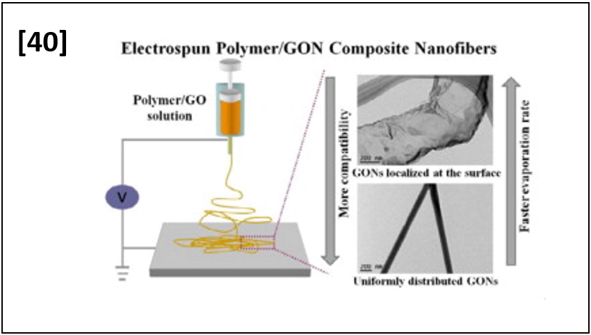 Controlled assembly of graphene oxide nanosheetswithin one-dimensional polymer nanostructure